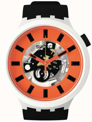 Swatch ORACK | Big Bold Bioceramic | Orange Skeleton Dial SB03M104