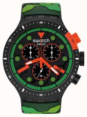 Swatch ESCAPEJUNGLE | Big Bold Chrono | Green Strap SB02B409
