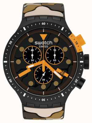 Swatch ESCAPEDESERT | Big Bold Chrono | Brown Camo Strap SB02B410