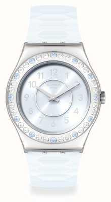 Swatch PRECIOUS AQUA | Irony Medium | Silicone Strap YLS226