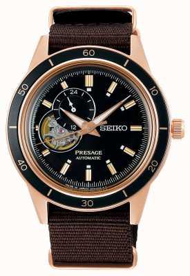Seiko Presage 60's Style Brown Nylon Strap SSA426J1