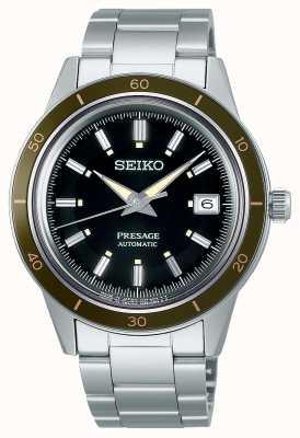 Seiko Presage Style 60s Black Dial Steel Bracelet SRPG07J1