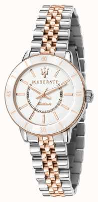 Maserati Women's Successo Solar Dual Tone Watch R8853145504