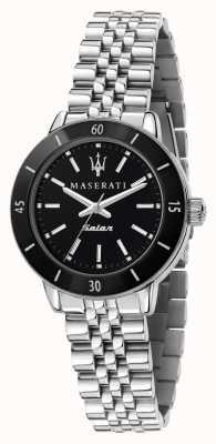 Maserati Women's Successo Solar Black Dial Watch R8853145506