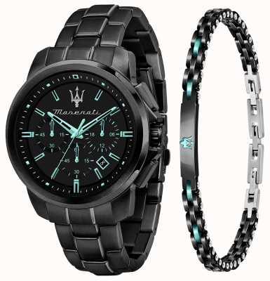 Maserati Aqua Edition Men's Gift Set Watch and Bracelet R8873644004