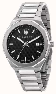 Maserati Men's Stile 3H Data Black Dial Watch R8853142003