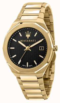 Maserati Men's Stile 3H Data Gold Plated Watch R8853142004