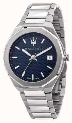 Maserati Men's Stile 3H Data Blue Dial Watch R8853142006