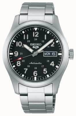 Seiko 5 Sports Field Black Dial Stainless Steel Bracelet SRPG27K1
