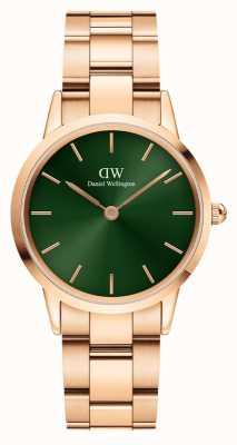 Daniel Wellington Iconic Emerald Rose-Gold Plated Watch DW00100420