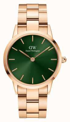 Daniel Wellington Iconinc Emerald 28mm Green Dial Rose Gold Strap DW00100421