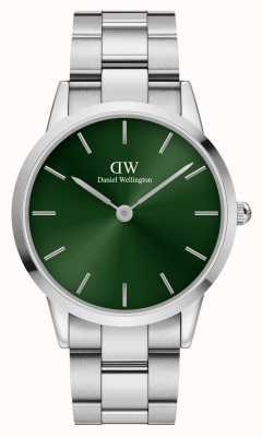 Daniel Wellington Iconinc Emerald 40mm Green Dial Silver Bracelet DW00100427