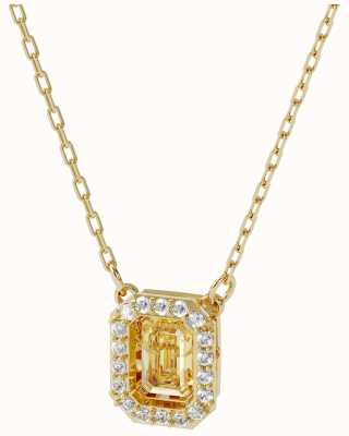 Swarovski Millenia | Gold Tone Necklace | Square | White 5598421