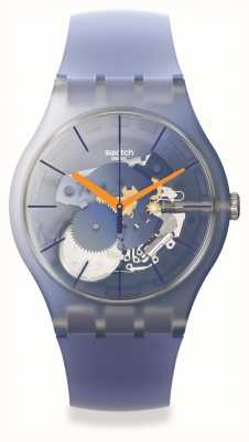 Swatch New Gent | ALL THAT BLUES | Skeleton Dial SUOK150