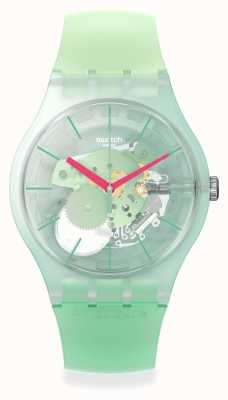 Swatch New Gent | MUTED GREEN | Skeleton Dial SUOK152