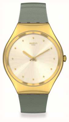 Swatch Skin Irony | GREEN-MOIRE | Gold Case SYXG113