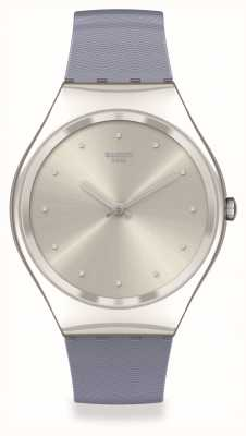 Swatch Skin Irony | BLUE-MOIRE | Silver Case SYXS134