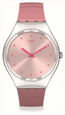 Swatch Skin Irony | ROSE-MOIRE | Pink Silicone Strap SYXS135