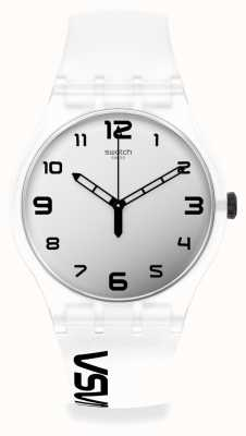 Swatch New Gent | SPACE RACE | White Silicone Strap SUOZ339
