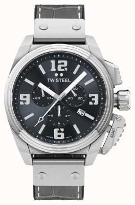 TW Steel Canteen Grey Leather Strap Watch TW1013