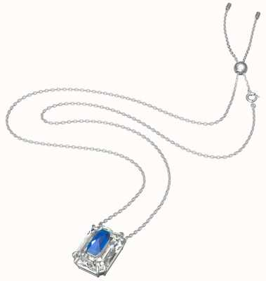 Swarovski Chroma pendant | Octagon Cut Crystal | Blue | Rhodium Plated Necklace 5600625