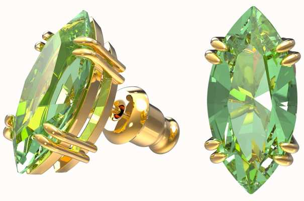 Swarovski Gema | Stud Earrings | Gold-Tone Plated | Green 5614453