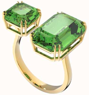 Swarovski Millenia | Cocktail Ring | Gold-Tone | Octagon Cut Crystals | Green 5614923