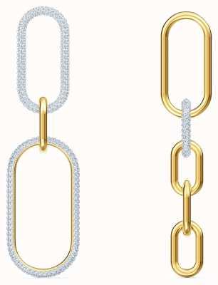 Swarovski Time | Pierced Earrings | White | Mixed Metal Finish 5566004