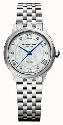 Raymond Weil Women's | Maestro | Auto |  Mother Of Pearl Dial | Stainless Steel Bracelet 2131-ST-00966