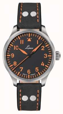 Laco Neapel 39 Automatic Black Leather Strap 862129