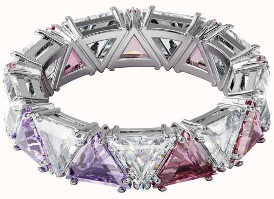 Swarovski Millenia | Ring | Rhodium Plated | Multi-Coloured | UK N 5600765