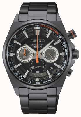 Seiko Chronograph Black Stainless Steel Bracelet SSB399P1