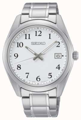 Seiko White Dial 40.2 mm Stainless Steel Bracelet Watch SUR459P1