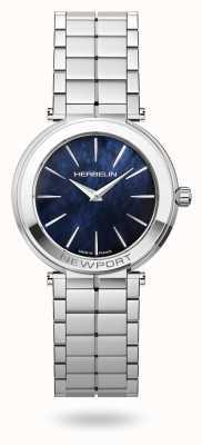 Michel Herbelin Woman's Newport Slim Blue Mother of Pearl Dial 16922/B60