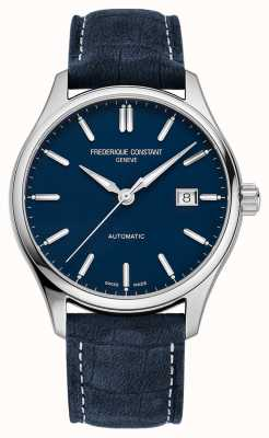 Frederique Constant Classic Index Automatic 40 mm Blue Leather Strap FC-303NN5B6