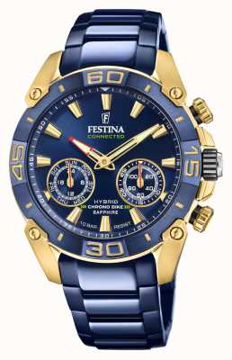 Festina Chrono Bike 2021 Connected Special Edition Hybrid Blue and Yellow Gold F20547/1