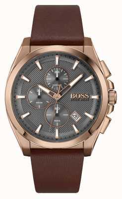 BOSS Grandmaster Sport Lux | Brown Leather Strap 1513882