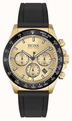 BOSS | Hero Sport Lux | Black Strap | Gold PVD Case | 1513874