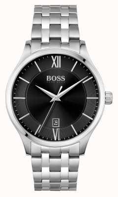 BOSS | Elite Business | Stainless Steel Bracelet | Black Date Dial | 1513896