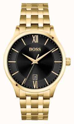 BOSS | Elite Business | Gold Bracelet | Black Date Dial | 1513897