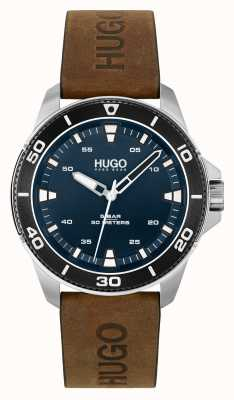 HUGO # STREETDIVER Casual | Blue Dial | Brown Leather Strap 1530220