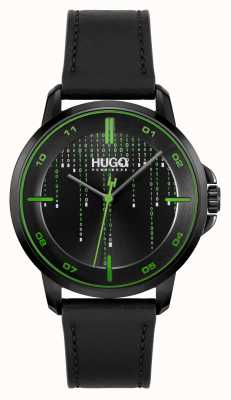 HUGO #FOCUS MATRIX Casual | Black Dial | Black Leather Strap 1530205
