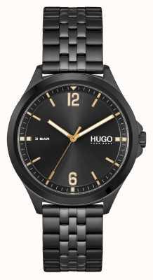 HUGO #SUIT Business | Black Dial | Black PVD Steel Bracelet 1530218