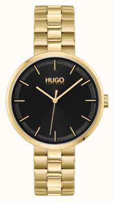 HUGO #CRUSH | Black Dial | Gold PVD Steel Bracelet 1540102