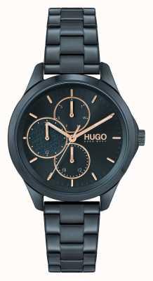HUGO #FEARLESS MULTI Casual | Blue Dial | Blue IP Steel Bracelet 1540098