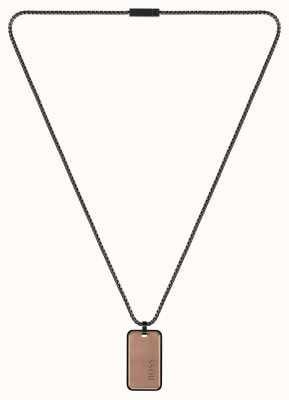 BOSS Jewellery Men's ID Bronze Black Pendant 1580185