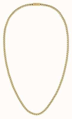 BOSS Jewellery Chain For Him Gold IP Necklace 1580173