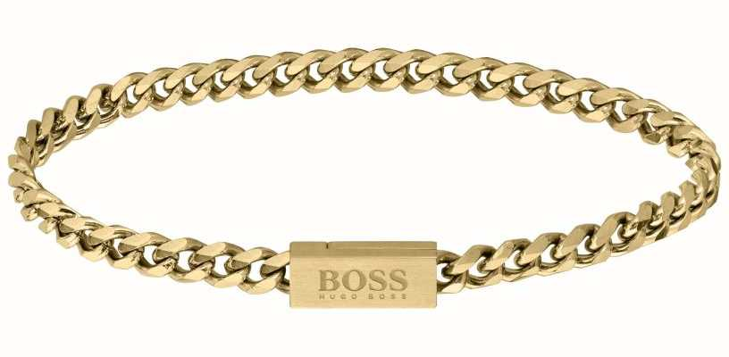 BOSS Jewellery Chain For Him Gold IP Bracelet 1580172M