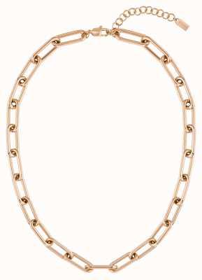 BOSS Jewellery Tessa Carnation Gold IP Link Nechlace 1580200
