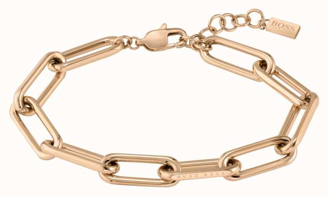 BOSS Jewellery Tessa Carnation Gold IP Link Bracelet 1580198